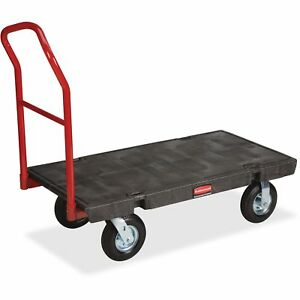 Rubbermaid Commercial Platform Hand Truck 9 x50x13 x24x75 2fixed 2 Swivel Cast