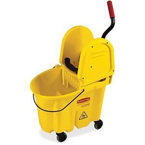 Rubbermaid Mop Bucket Wringer Wavebreak 20 5 x16 6 x25 5 Yellow 757788yl