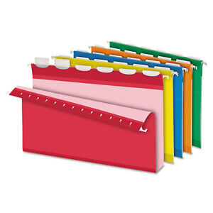 Pendaflex Ready tab Hanging File Folders 2 Capacity 1 6 Tab Legal Assorted 20
