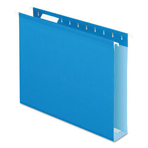 Pendaflex Reinforced 2 Extra Capacity Hanging Folders 1 5 Tab Letter Blue 25