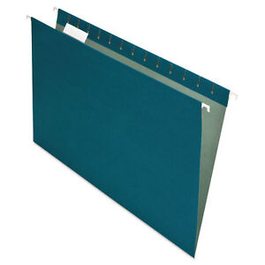 Pendaflex Earthwise Recycled Colored Hanging File Folders 1 5 Tab Legal Blue 25