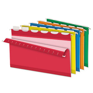 Pendaflex Colored Reinforced Hanging Folders 1 6 Tab Legal Asst 25 box 42593