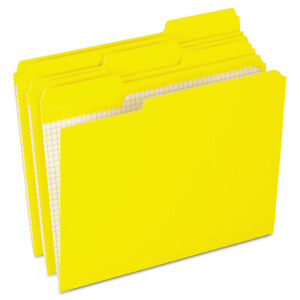 Pendaflex Reinforced Top Tab File Folders 1 3 Cut Letter Yellow 100 box