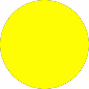 Tape Logic Removable Labels 2 Circle Fluorescent Yellow 500 roll Dl1390fy