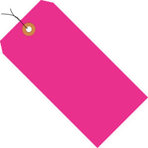 Box Partners Shipping Tags Pre wired 13 Pt 5 3 4 X 2 7 8 Fluorescent Pink