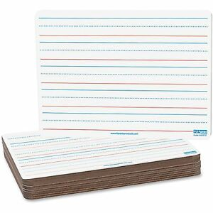 Flipside Magnetic Dry Erase Board Ruled 9 x12 12 pk Rdbe 10176