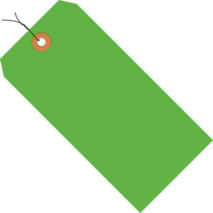 Box Partners Shipping Tags Pre wired 13 Pt 5 3 4 X 2 7 8 Fluorescent Green