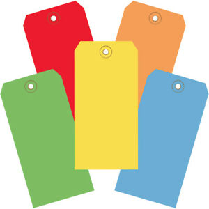 Box Partners Shipping Tags 13 Pt 6 1 4 X 3 1 8 Assorted Color 1000 case
