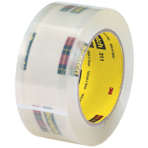 Scotch 3m 311 Carton Sealing Tape 2 0 Mil 2 X 110 Yds Clear 6 case T9023116pk