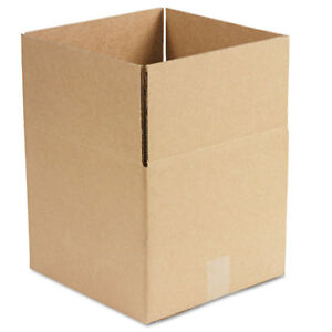 General Supply Brown Corrugated Fixed depth Shipping Boxes 12l X 12w X 10h 25