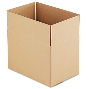 General Supply Brown Corrugated Fixed depth Shipping Boxes 18l X 12w X 12h 25