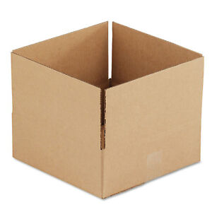General Supply Brown Corrugated Fixed depth Shipping Boxes 12l X 12w X 4h 25