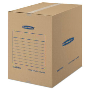 Bankers Box Smoothmove Basic Large Moving Boxes 18l X 18w X 24h Kraft blue 15
