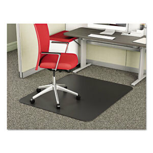 Deflecto Supermat Frequent Use Chair Mat Medium Pile Carpet Beveled 36 X 48