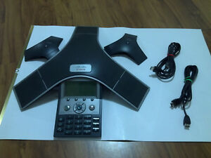 Cisco Cp 7937g 2 External Mic Conference Station Voip Ip Phone