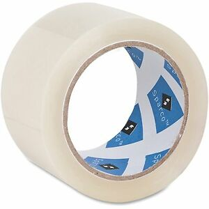 Sparco Packaging Tape Roll 3 Core 3 0 Mil 2 x55 Yds 6rl pk 64010pk
