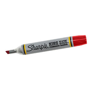Sharpie King Size Markers Red 12 case Mk401rd