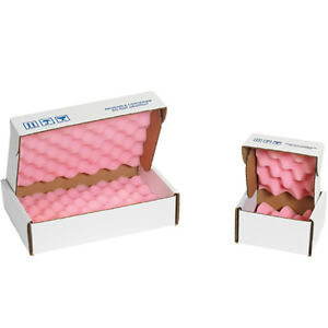 Box Partners Anti static Foam Shippers 12 X 12 X 2 3 4 Pink white 24 case