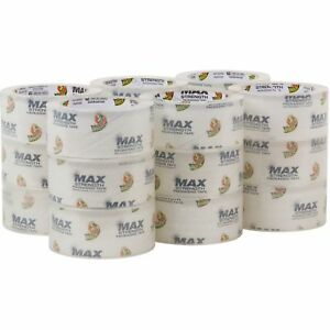 Duck Max Packaging Tape 1 88 X 54 6 Yds 3 Core Crystal Clear 18 pack 241514