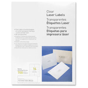 Myofficeinnovations Laser Labels Mailing 1 1 3 x4 1 4 700 pk Clear 3254530