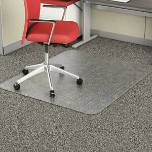 Alera Studded Chair Mat For Flat Pile Carpet Rectangle 46 X 60 Carpet Clear