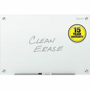 Quartet Dry erase Board Glass Frameless 36 wx24 h White G3624nmw