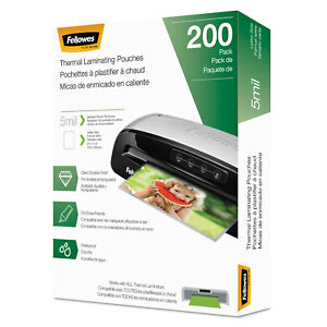Fellowes Laminating Pouches Letter Size Hot Pouch 9 X 11 5 5 Mil 200 Pack