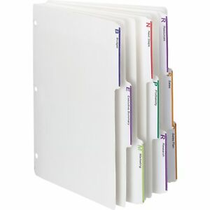 Smead Index Dividers 1 3 cut Tab 8 1 2 x11 25 Sets bx We 89413