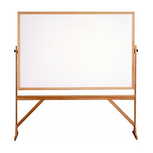 Ghent Reversible Whiteboard With Wood Frame 4 h X 6 w Rmm46