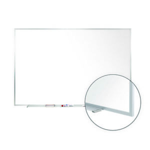 Ghent Non magnetic Whiteboard With Aluminum Frame 4 h X 5 w M2454