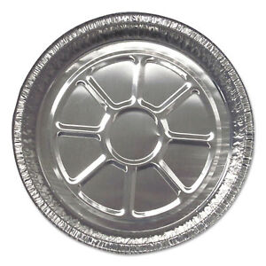 Durable Packaging Aluminum Round Containers 8 15 16 Dia Silver 500 carton