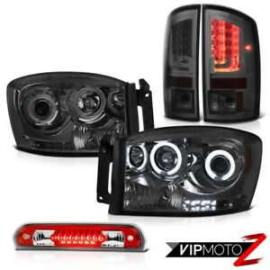 07 08 Dodge Ram 1500 Slt Taillamps Headlamps Wine Red Roof Brake Light Newest