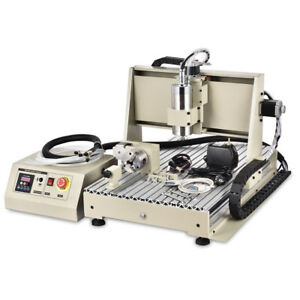 4 Axis 6040t Cnc Router Engraver 1 5kw Vfd Metal Drilling 3d Machine controller