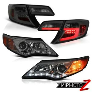 2012 2013 2014 Toyota Camry Se Smokey Headlamps Taillamps Tron Tube High Power
