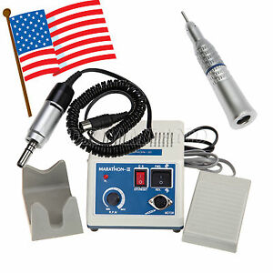 Dental Lab Marathon Electric Micro Motor 1x Straight Slow Speed Handpiece Usps