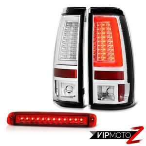 03 06 Silverado 3500hd Tail Lamps Red Clear Third Brake Lamp Frosty Neon Tube