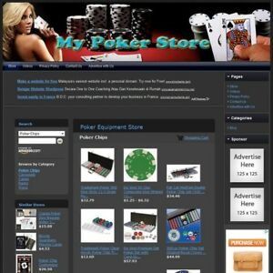 Poker Store Make Money With Your Own E commerce Website Free Domain hosting