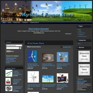 Wind Power Store Complete Premium Website For Sale Amazon adsense dropship