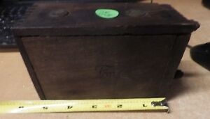 Antique 1900 S Ford Model T Model A Wood Box Battery Ignition Coil Ford Script