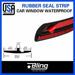 30ft Automotive Seal Trim Sunroof Window Windshield Gap Rubber Weather Stripping