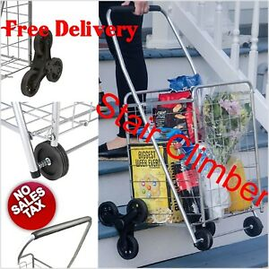 Heavy Duty Rolling Portable Utility Shopping Folding Cart Stair Climber Trolley