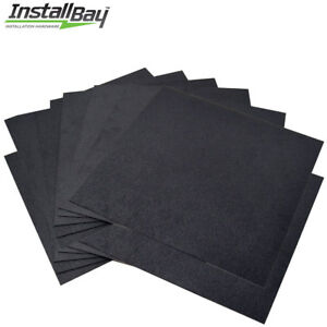 12 Pack Abs Plastic Textured Plastic Sheet 12in X 12in X 3 16in Black Smooth