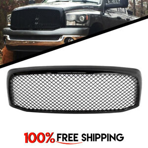 Front Grille Grill Gloss Black Sport Mesh For Dodge Ram 1500 Years 2006 To 2008