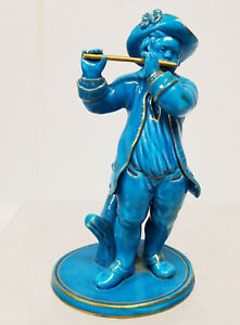 Antique French Porcelain Sevres Type Turquoise Blue Glazed Figure Statue