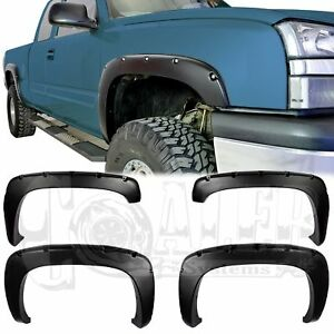 1999 2006 Gmc Sierra Bolt on Smooth Pocket Style Fender Flares 4pc Riveted
