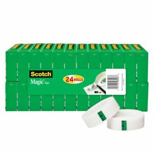 Scotch Magic Invisible Tape 3 4 X 1 000 Clear Pack Of 24 Rolls