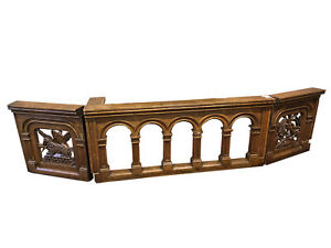 Antique French Gothic Church Railing Great Architectural Pieces 19th Century
