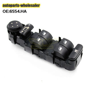 6554 Ha For Citroen C4 2004 2010 Electric Power Window Master Control Switch