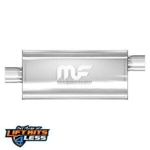 Magnaflow 12226 2 25 Inlet outlet Satin Stainless Steel Muffler