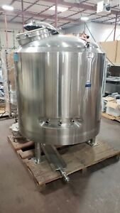 Dci 1500 Gallon Stainless Steel Jacketed Pressure Reactor Tank Mixer impeller